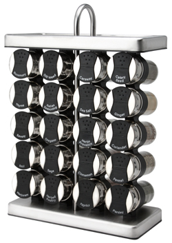 Black Spice Rack - Stainless Steel Spice Rack Set