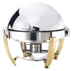 Browne Halco Stainless Steel Chafer Round