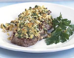 mustard crusted steak