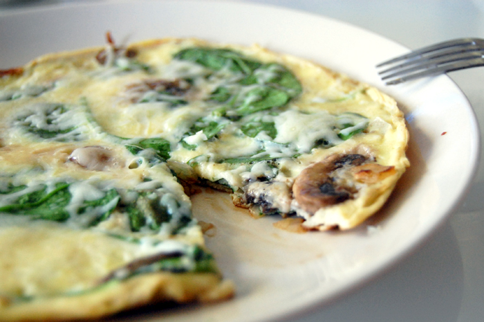 Spinach Omelet | Recipedose.com